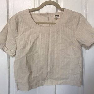 Anthropologie a crop blouse size small